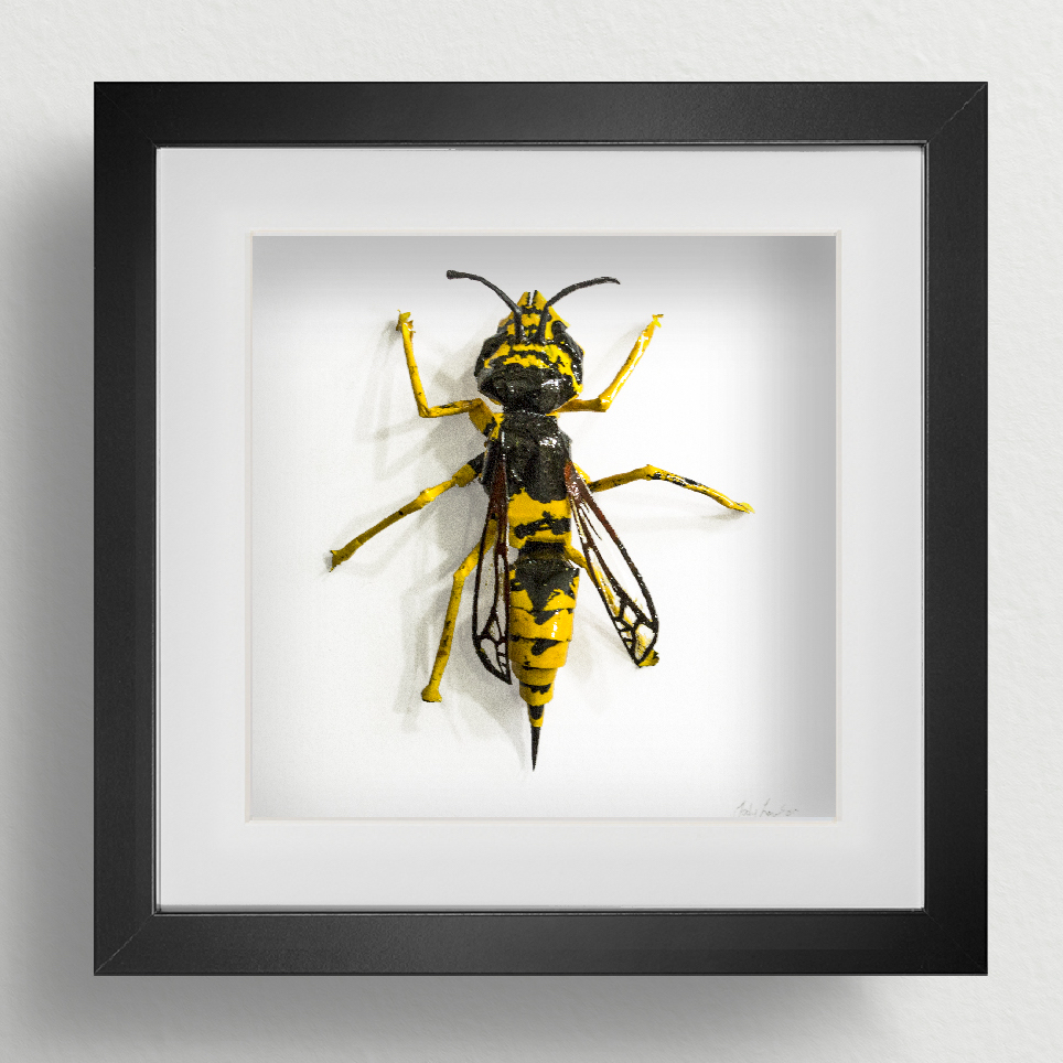 Common Wasp insect paper sculpture